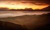 BROMO-TENGGER-SEMERU NATIONAL PARK, EAST JAVA, INDONESIA. (amrilizan photography) Tags: morning mountains nature silhouette clouds sunrise indonesia landscapes java nationalpark layers bromo eastjava bromotenggersemerunationalpark mountbatok bromocrater guningbatok
