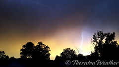 June 9, 2016 - Lighting and an eerie sunset. (ThorntonWeather.com)