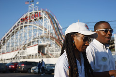 Employees (dtanist) Tags: nyc newyork newyorkcity new york city sony a7 contax zeiss carlzeiss carl planar 45mm brooklyn coney island luna park employees cyclone roller coaster