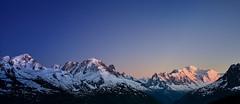 TS Chaine du Mt Blanc 3 (md.creations74) Tags: blue sunset france montagne alpes time ciel slice paysage chamonix mont blanc moutain beautifull exterieur
