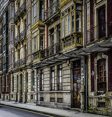 Gijon frontage (seth2252013) Tags: street buildings spain asturias balconies gijon traditionalbuildings