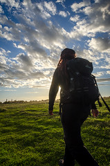 On our way to Slope Point (Kathrin & Stefan) Tags: sunset newzealand sky cloud nature silhouette backlight walking outdoor southisland slopepoint kathrinmarks