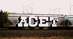 ACET (timetomakethepasta) Tags: acet freight train graffiti wholecar cnw hopper chicago northwestern union pacific