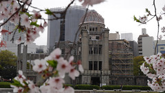 dark history beautiful - Atomic Bomb Dome, Hiroshima (EMkro) Tags: original history japan cherry spring asia raw blossom ground hiroshima backpacking dome bomb atomic zero hanami frhling geschichte kirschblte atombombe unbearbeitet atombombenkuppel friedensdenkmal