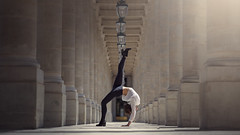 (dimitryroulland) Tags: street city bridge light people urban paris france art dance nikon natural 85mm dancer gymnast gymnastics 18 gym performer flexibility flexible d600 dimitry roulland