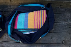 beach bag packed (foxthreads) Tags: beach bag sewing gym tote