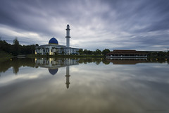 smooth reflection || uniten Mosque (gilbertchuachian_siong) Tags: world park travel sky lake reflection tourism asia cloudy sony muslim prayer smooth mosque malaysia destination interest aasia masjid selangor bangi uniten samyang a6000