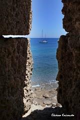 - Rodos island (Eleanna Kounoupa) Tags: blue sea boat greece rodos fortresses       dodecaneseislands
