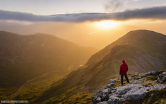 Highland Light (RobGrahamPhotography) Tags: light mountain mountains sunrise canon landscape person scotland landscapes highlands outdoor ridge valley glencoe goldenhour aonacheagach ambodach canon6d srongharbh
