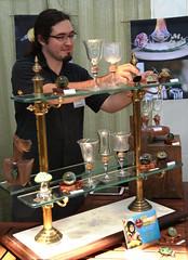 Michael Dickinson: Hand Blown Glass Art (beppesabatini) Tags: california richmond bayarea artsandcrafts kpfa craftsfair artsfair cranewaypavilion 941kpfa 2ndannualkpfasummerartsfair2016 kpfasummerartsfair