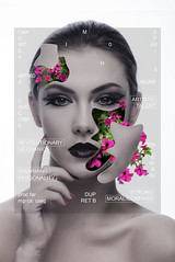 Fauna Tech (neil rushby photography) Tags: flowers portrait fauna photoshop robot photo model surreal manipulation petunia android scfi