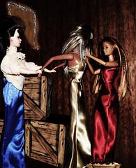 Vaudville Act (Dolls Saga) Tags: life doll sinister barbie thief terror second gown elegant satin peril jewel barbiedoll pickpocket damselindistress jewelthief