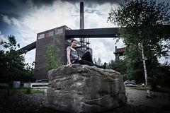 Industry (evolvingLight) Tags: people industry outdoor natural light woman zeche zollverein essen ruhrgebiet ruhr area