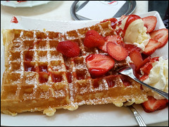 Day 182 (kostolany244) Tags: food june germany europe moments cream strawberries icecream waffle day182 geo:country=germany kostolany244 samsunggalaxys5 366the2016edition 3662016 moments2016 3062016