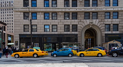 New Your Taxis in Cleveland (jphenney) Tags: movie downtown cleveland filmproduction sportscars movieprops fastfurious fastandfurious8