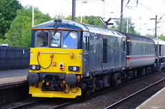 73969 at Morpeth (stephen.lewins (1,000 000 UP !)) Tags: northumberland morpeth railways cr caledonian ecml class73 73969