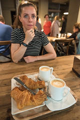 Eralda having Breakfast // Trip to Spain - San Sebasian (Merlijn Hoek) Tags: camera portrait food woman man slr girl dinner 35mm photography restaurant vakantie spain essen nikon fotografie photographer good great diner babe chick full fullframe nikkor holliday portret espagne digitalslr vrouw kamera eten merlijn hoek paísvasco 2016 fotograaf d810 autodidact amsterdammer 35mmformat merlijnhoek havenstad noordspanje nikond810 digitalsinglelensreflex havenstadje fullframedigitalslr 36megapixel 36×24mm karakteristiekhavenstadje