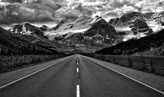 Headed South (Jeff Clow) Tags: travel vacation holiday canada mountains path getaway roadtrip off journey alberta destination beaten mothernature timeless jaspernationalpark mountainrange icefieldsparkway canadianrockies roadlesstraveled offthebeatenpath beautyinnature