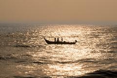 Journey (Sajal Mukherjee) Tags: travel sea india seascape nature water beautiful sunrise coast boat waves seashore bayofbengal 500px puducherry