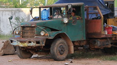 Parked on a street in Siem Reap (asitrac) Tags: street travel truck scenery asia cambodia southeastasia scene lorry camion transportation kh siemreap indochina siemreapprovince krongsiemreap