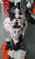 Tessa M.5 (ohlookitsanartist) Tags: tessa mark 5 five orange tower white metal metallic giant moc bionicle hero factory herofactory huge tall female soldier warrior mecha robot girl woman heartlight trans transparent boots armor