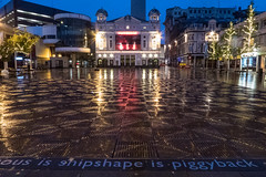 Shipshape Is Piggyback (ClydeHouse) Tags: reflection rain liverpool evening theatre playhouse williamsonsquare byandrew liverpoolplayhousetheatre