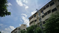 Thailand Samutprakan Residential Building Residential District Residential Structure Blue Sky Sky And Clouds (markusg2010) Tags: thailand bluesky skyandclouds samutprakan residentialbuilding residentialdistrict residentialstructure
