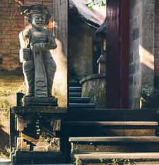 Welcome inside.. (areyarey) Tags: door old travel vacation bali sculpture travelling art tourism statue stone architecture indonesia asian religious temple ancient asia god religion steps culture tourist carving relief tradition oriental spiritual hindu hinduism ubud areyarey