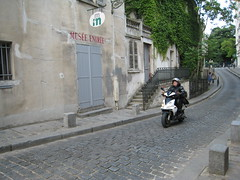 Lady on a Moto in Paris
