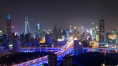NanBei - Yan'An (u2giants) Tags: china urban skyline lights highway neon shanghai illuminated lit pudong litup puxi yanan nanbei