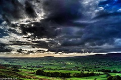 From Longridge Fell across our valley to the North West (Normanbongo) Tags: beautiful photo lancashire beaconfell chipping parlick longridge coth troughofbowland ribblevalley supershot bleasdale sunrays5 uploaded:by=flickrmobile flickriosapp:filter=nofilter