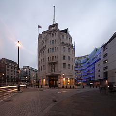 Broadcasting House London (david.bank (www.david-bank.com)) Tags: city uk england urban london wet rain architecture canon square stitch centre center bbc tse 17mm