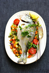 Dorade rtie aux lgumes (Un dejeuner de soleil) Tags: food fish recipe italian vegetable lgumes recette glutenfree dorade foodphotography undejeunerdesoleil