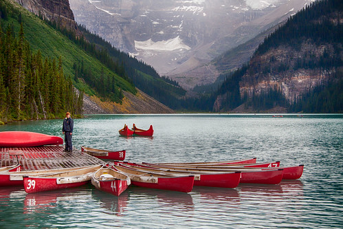 Rainy Day on Lake Louise