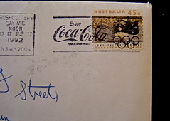 Enjoy Coca-Cola Post Mark (dozafar) Tags: australia postagestamps postmarks enjoycocacola