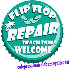 flip flop repair shop retro sign (shaney442) Tags: blue summer tree beach sign shop vintage island sand teal jimmy style bum palm retro coastal flip repair buffett margaritaville flop parrothead