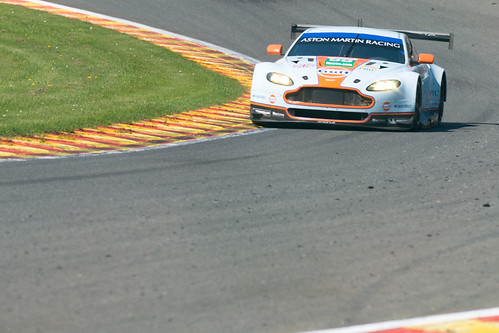 WEC Spa-Francorchamps 2013 - Aston Martin Racing #99 going through Eau Rouge