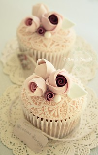 Vintage Lace Cupcakes by Cotton and Crumbs