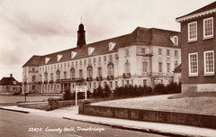 Trowbridge County Hall c.1961 (Trowbridge Postcards & Ephemera) Tags: postcard wiltshire countyhall trowbridge bythesearoad|