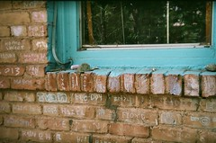 words in chalk (EllenJo) Tags: 35mm holga may az fujifilm clarkdale holga35mm holga135 2013 clarkdalearizona 86324 ellenjo ellenjoroberts