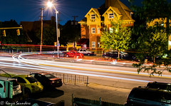 Night Traffic (Kenzie Saunders) Tags: nightphotography motion blur cars trickphotography longshutter makeupassignment