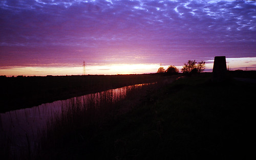 Sunset over the Fens with Poundland Film