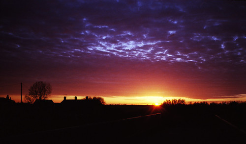 Fenland Sunset with Poundland Film