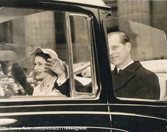 Queen and Duke in London (romanbenedikhanson) Tags: 1953 coronation queenelizabeth originalphoto londontour queensimages