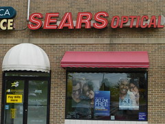Sears Optical in Wooster, Ohio (Fan of Retail) Tags: road ohio retail mall shopping sears optical center burbank stores wooster milltown 2013