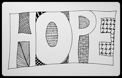 Zentangle #118 - Hope (hilda_r) Tags: art drawing doodle tangle inkdrawing inkart zentangle zentangles uploaded:by=flickrmobile flickriosapp:filter=orca