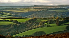 Exmoor Magic (Dazzygidds) Tags: west beautifullight somerset richness hilly depth exmoor lightandshade exmoornationalpark exmoormagic woodedcombes unuldating