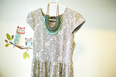 tomorrow is a dress. (samovaren) Tags: green necklace outfit dress bright d70s mint zara mintgreen 35mmf18