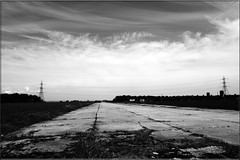 Main Runway - RAF Bradwell Bay (PaulHP) Tags: white black monochrome bay main runway essex raf bradwell bradwellonsea dengiepeninsula