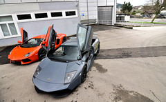 Aventador LP700 and Murcilago LP670 SV (ThomvdN) Tags: